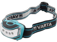 NEW boxed VARTA 4 x 5 mm LED Outdoor Head Light with 3AAA Battery - Turquoise