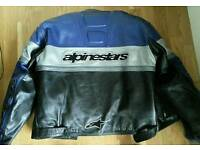 Alpine stars two piece Motorcycle leathers .