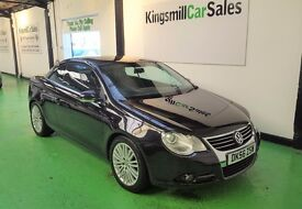 56Reg VW EOS SPORT FSi * CONVERTIBLE * ONLY 77K * FULL SERVICE HISTORY * 8 SERVICES * 2.0 PETROL