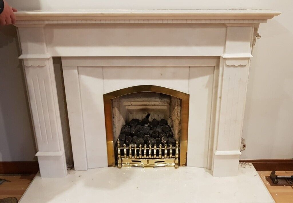 White Solid Marble Fireplace In Peterhead Aberdeenshire Gumtree