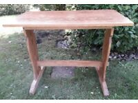 Old solid pine side table