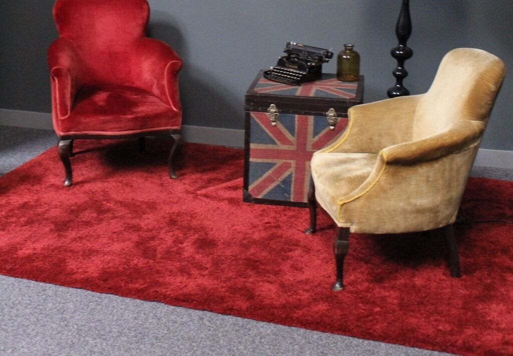 Ikea Adum Rug High Pile Red Or Green In Marlow