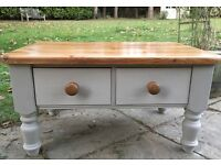 Hand Painted Solid Pine Sturdy Coffee Table