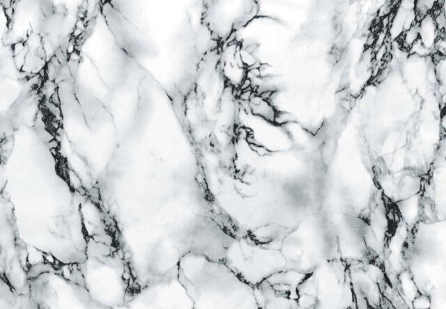 d-c-fix Self Adhesive Sticky Back Fablon Film Sticker - White Marble 67.5cm x 2m