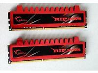 2 X G-Skill 4GB DDR3 PC3-10666 Ripjaw Series (9-9-9-24) Single Desktop Memory Module