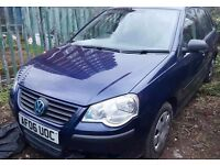 Volkswagen Polo match 55, low mileage petrol manual 5 doors, 2006 year