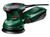 Bosch Green PEX220A 240v 125mm Random Orbit Sander, used