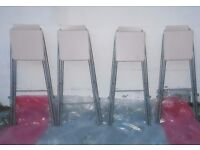*****SET OF 4 FOLDING DINING and set of 4 UPHOLSTERED CHAIRS ********