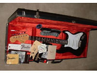 "1997 Fender Jimi Hendrix USA ""Voodoo"" Stratocaster electric guitar with case"