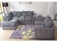 BRAND NEW- UK MADE - Dylan Jumbo Cord Corner Sofa Suite or 3 and 2 Set - SAME DAY DELIVERY!