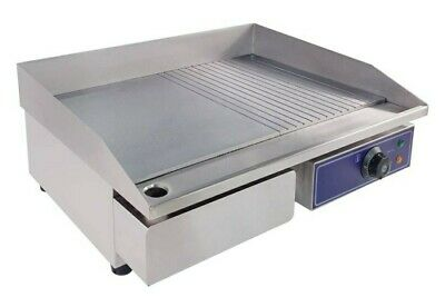 Taimiko 2000w 22 Two Half Iron Plate Commercial Electric Griddle