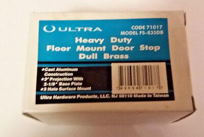 NOS Ultra Hardware Heavy Duty Floor Mount Door Stop-Dull Brass 71017 Brass Floor Door Stop