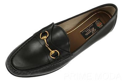 NEW GUCCI BLACK LEATHER HORSEBIT 1953 LOAFERS CASUAL MOCCASINS SHOES 36.5/US 6.5