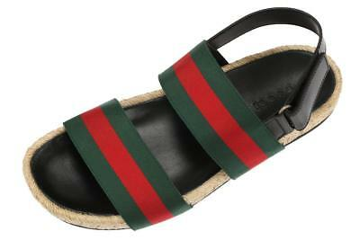 04e890c3e NEW GUCCI MEN'S WEB STRAP ESPADRILLES SANDALS BEACH SUMMER SHOES 8.5/US 9