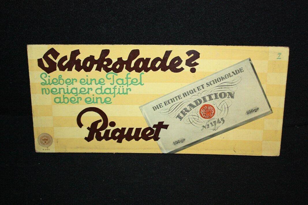 Riquet Elefant Kakao Blechschild Schild 3D geprägt gewölbt Tin Sign 20 x 30 cm
