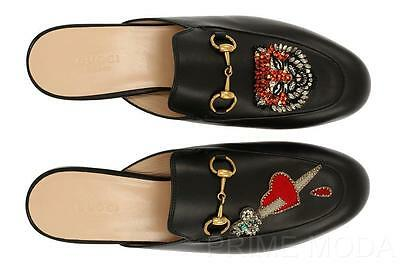 NEW GUCCI PRINCETOWN BLACK LEATHER HORSEBIT SLIPPER LOAFERS SHOES 40/US 10