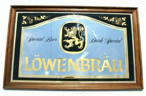 Vintage Lowenbrau Bar Mirror Beer Advertising Sign (Man Cave)
