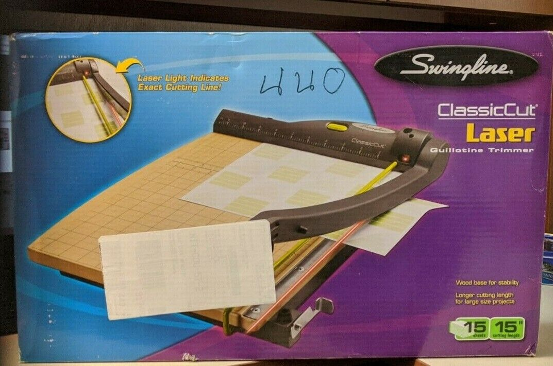 Swingline Classiccut Laser Trimmer, 15 Sheets, Metal/Wood Co