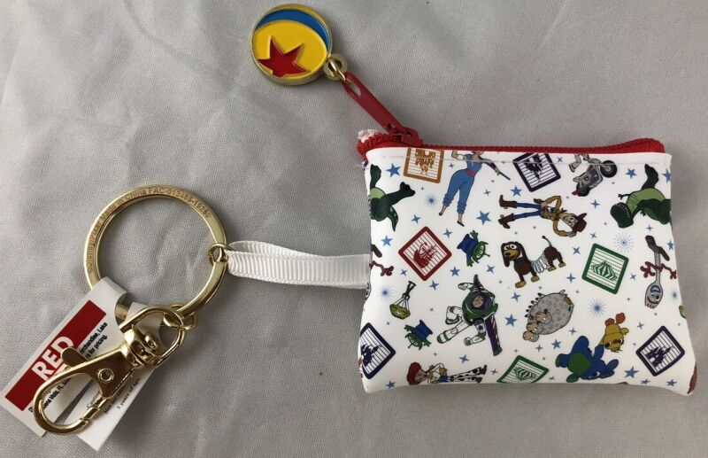 Disney Parks Pixar Toy Story 4 Coin Purse Mini Luxo Ball Keychain - NEW