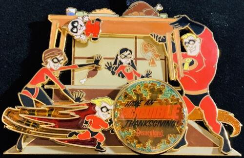 DLR Disneyland 2007 Thanksgiving The Incredibles JUMBO Boxed PIN LE 500! #57958