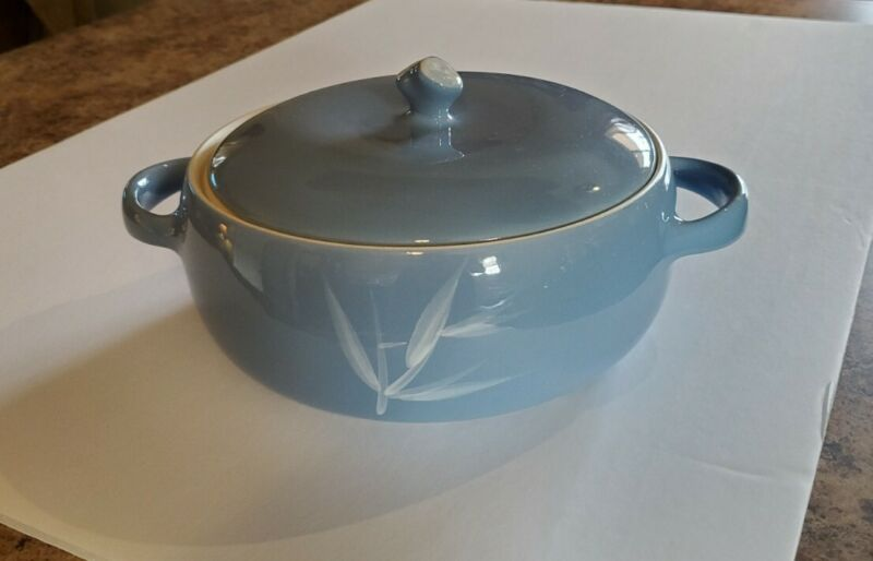 Vintage Winfield China: Blue Pacific Bowl with Lid, Porcelain