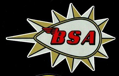 """""""BSA FUEL TANK"""" VINYL DECAL STICKER MOTORCYCLE CAFE RACER ARIEL INDIAN BSA HOG"""