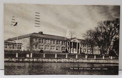 Milford Connecticut,  The New High School Postcard C19