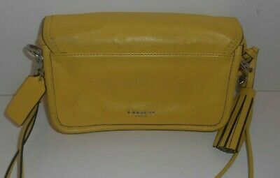 COACH LEGACY PENNY GLOVE TANNED YELLOW LEATHER CROSSBODY SWING BAG 19914