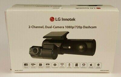 LG LGD521 Innotek 2 Channel Dual-Camera 1080p Dashcam with 32GB MicroSD NEW