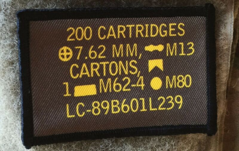 7.62 Nato Ammo Can Morale Patch Tactical ARMY Hook Military USA Badge Flag