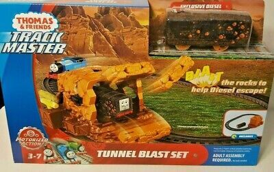 Thomas & Friends Track Master Tunnel Blast Set Motorized Action Exclusive Diesel