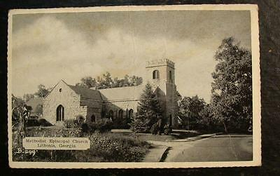 1942 POSTCARD-METODIST EPISCOPAL CHURCH, LITHONIA, GA.