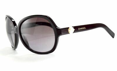 Chanel Sunglasses  5141H 1022/ Brown Burgundy Pearl / Violet Gradient Lenses Burgundy Gradient Lens