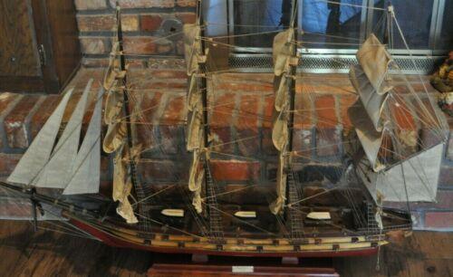 "Large Wood Model Ship of the Fragata Espanola 1780 47"" x 31"" x 6 *LOWER PRICE"