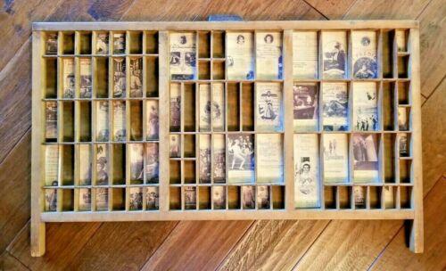 Vintage Printer Tray Type-Set Drawer Wood Display Shadow Box