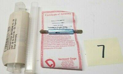 Vermont Gage 301108540 3-56 Unf 2b Go No-go Taperlock .0874 .0902