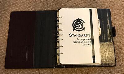 Franklin Quest Burgundy Classic 7-ring Binderplanner Standards For Improved...