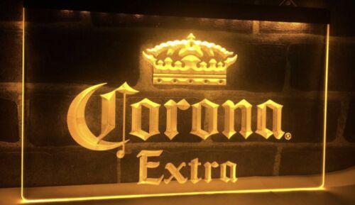 Vintage Corona Extra Beer Bar Pub Cafe LED Neon Light Sign.