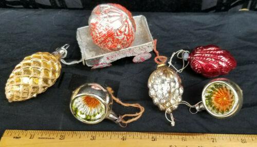 Vintage Lot of  7 Christmas Tree Ornaments