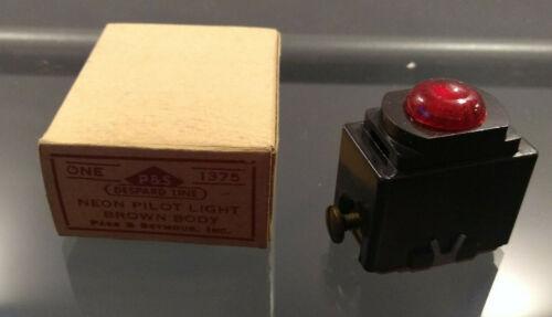 Vintage NOS New Pass & Seymour Despard Neon Pilot Light Brown indicator