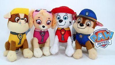 Paw Patrol Plush Stuffed Animal Toy Set: Chase, Rubble, Marshall & Skye 8