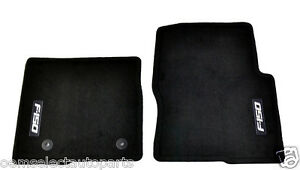 oem new 2012 2014 ford f 150 front row carpet floor mats black embroidered logo. Black Bedroom Furniture Sets. Home Design Ideas