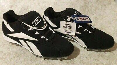 f02b6754df3 NEW Reebok Men s Vero FL M6 Low-NUBUCK Baseball Cleats - Size 10 Black    White