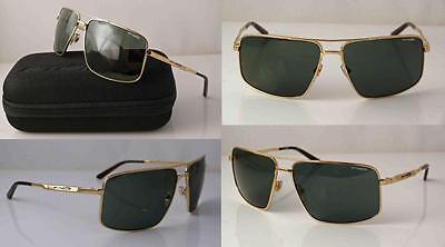 ARNETTE BACON AVIATOR SUNGLASSES POLISHED GOLD METAL FRAME GREY-GREEN LENS (Bacon Sunglasses)