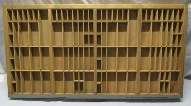 Vintage HAMILTON Letterpress Tray PRINTERS DRAWER  Shadow Box Many Compartments