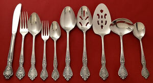Vintage-Japan-NORMANDY-Roses-Stainless-Silverware-Flatware-Pieces-YOUR-CHOICE