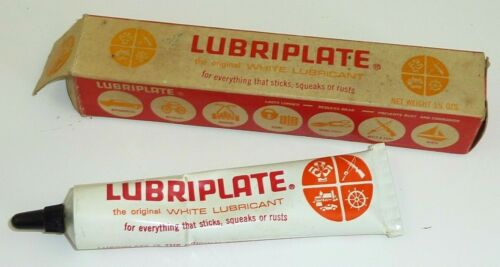 Vintage Fiske Brothers ADVERTISING Lubriplate Lubricant Tube Squeeze Bottle Box