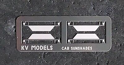 ETCHED DIESEL CAB SUNSHADES 2 PAIR HO SCALE KV MODELS