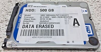 500GB Western Digital Scorpio Blue Ultra-Slim WD5000LPVX 2.5