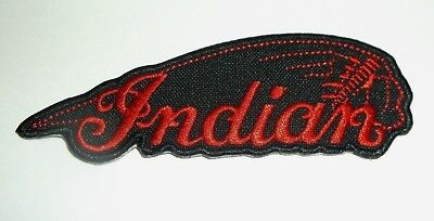 """Indian Motorcycle Biker Patch~4"""" x 1 3/8""""~Great for Jacket~Vest~Hat~Ships FREE, used for sale  Hinton"""